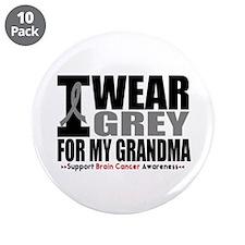 "I Wear Grey Grandma 3.5"" Button (10 pack)"