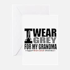 I Wear Grey Grandma Greeting Cards (Pk of 10)