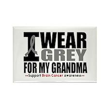 I Wear Grey Grandma Rectangle Magnet (10 pack)