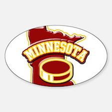 Minnesota Hockey Oval Sticker (10 pk)