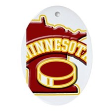 Minnesota Hockey Oval Ornament