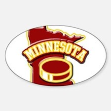Minnesota Hockey Oval Decal