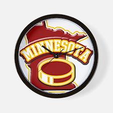 Minnesota Hockey Wall Clock