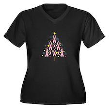 Breast Cancer Awareness Chris Women's Plus Size V-