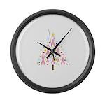 Breast Cancer Awareness Chris Large Wall Clock
