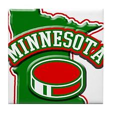 Minnesota Hockey Tile Coaster