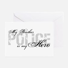 My Brother is My Hero - POLICE Greeting Cards (Pk