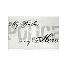 My Brother is My Hero - POLICE Rectangle Magnet