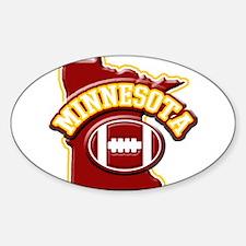 Minnesota Football Oval Sticker (10 pk)