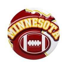 Minnesota Football Ornament (Round)