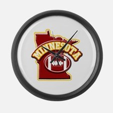 Minnesota Football Large Wall Clock