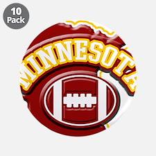 """Minnesota Football 3.5"""" Button (10 pack)"""