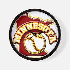 Minnesota Baseball Wall Clock