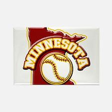 Minnesota Baseball Rectangle Magnet (100 pack)