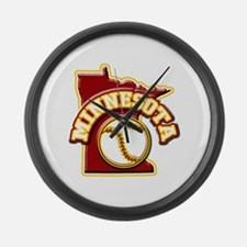 Minnesota Baseball Large Wall Clock