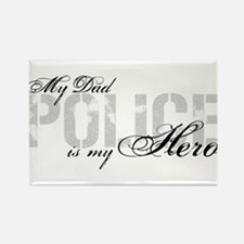 My Dad is My Hero - POLICE Rectangle Magnet