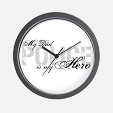 My Dad is My Hero - POLICE Wall Clock
