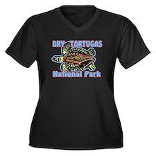 Dry Tortugas National Park Women's Plus Size V-Nec