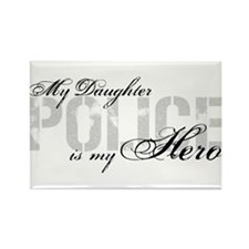 My Daughter is My Hero - POLICE Rectangle Magnet
