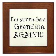 Gonna Be Grandma Again Framed Tile