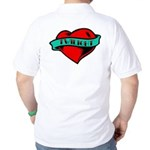 Twilight Heart Tattoo Golf Shirt