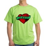 Twilight Heart Tattoo Green T-Shirt