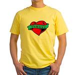 Twilight Heart Tattoo Yellow T-Shirt
