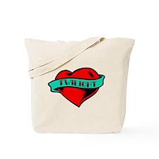 Twilight Heart Tattoo Tote Bag