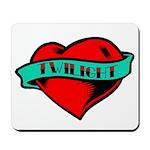 Twilight Heart Tattoo Mousepad