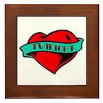 Twilight Heart Tattoo Framed Tile