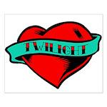 Twilight Heart Tattoo Small Poster