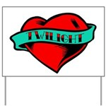 Twilight Heart Tattoo Yard Sign