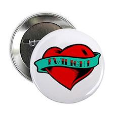 """Twilight Heart Tattoo 2.25"""" Button"""