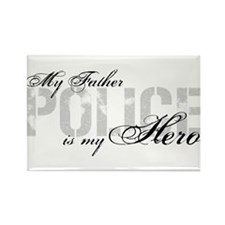 My Father is My Hero - POLICE Rectangle Magnet