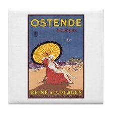 Ostend Belgium Tile Coaster