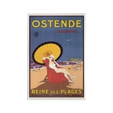 Ostend Belgium Rectangle Magnet