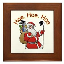 Hoe Hoe Hoe Santa Framed Tile
