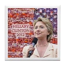 Hillary Clinton 2012 Tile Coaster