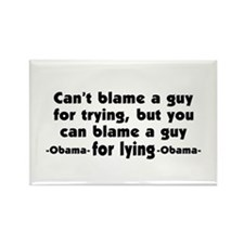 Obama Is A Liar Rectangle Magnet