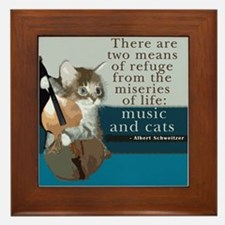 Cats and Music Framed Tile