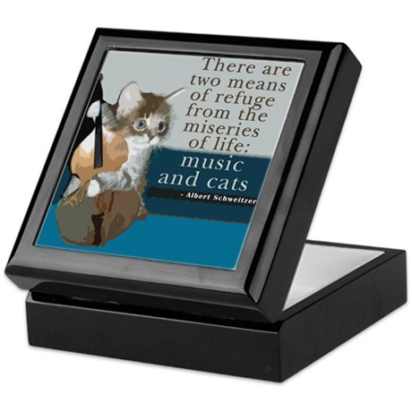 Cats and Music Keepsake Box