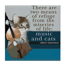 Cats and Music Tile Coaster