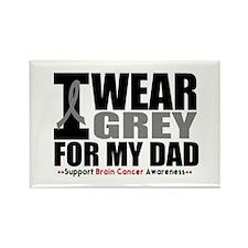 I Wear Grey Dad Rectangle Magnet (10 pack)