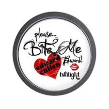 Bite Me Edward Cullen Wall Clock