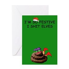 Funny Elves Christmas Greeting Card