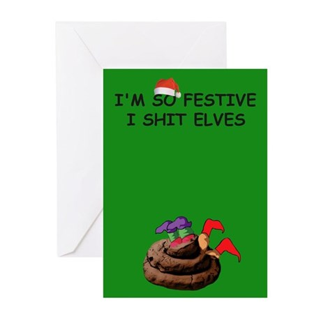 Funny Elves Christmas Greeting Cards (Pk of 20)