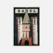 Basel Switzerland Rectangle Magnet