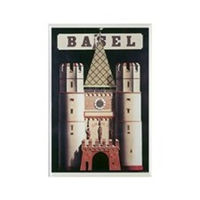 Basel Switzerland Rectangle Magnet (100 pack)