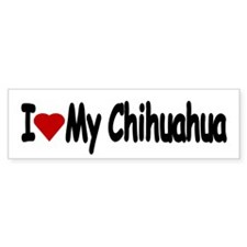 Love My Chihuahua Bumper Car Stickers Bumper Car Sticker