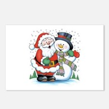 Santa and Snowman Postcards (Package of 8)